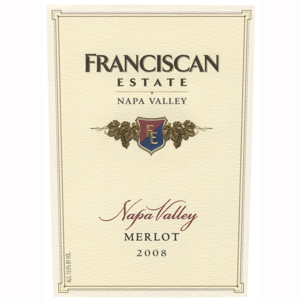 Franciscan Estate Merlot 2008 Front Label