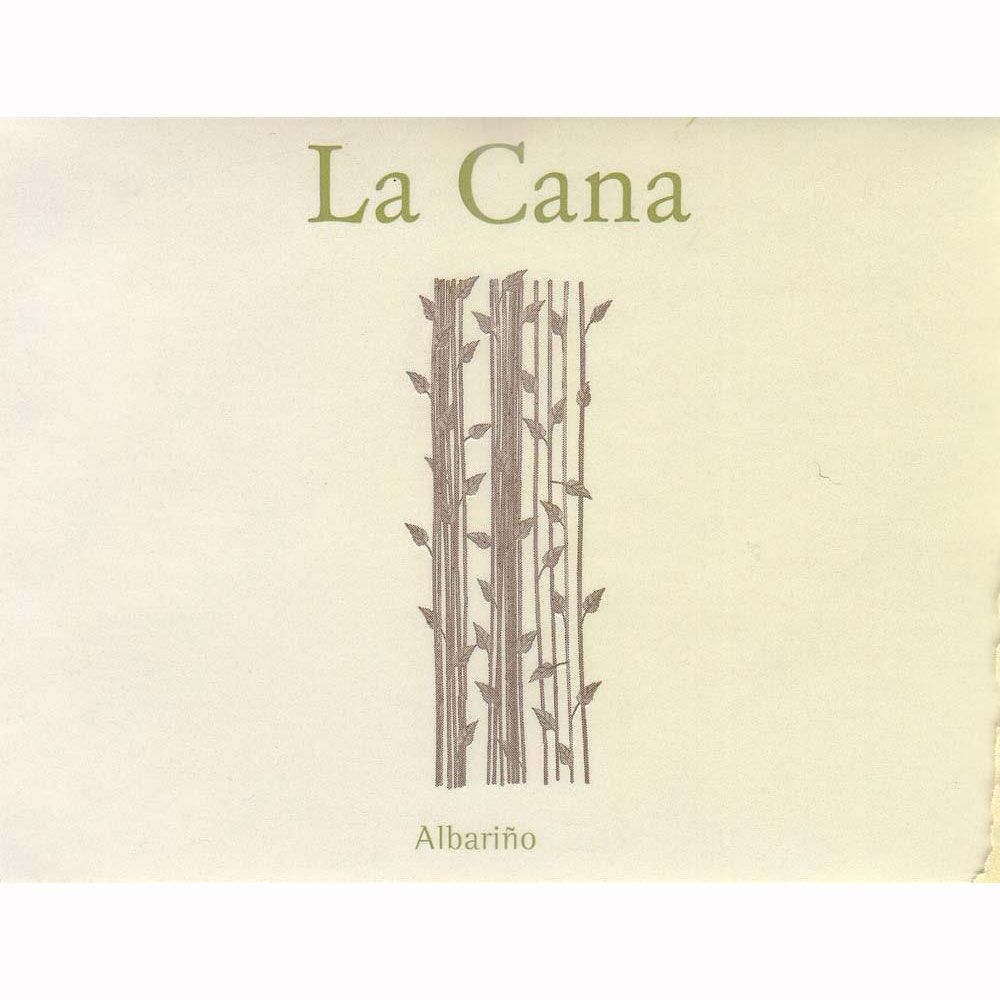 La Cana Albarino (375ML half-bottle) 2010 Front Label
