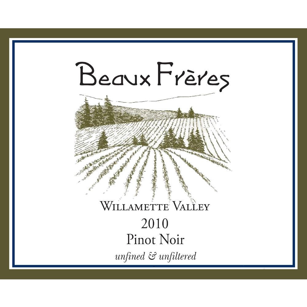 Beaux Freres Willamette Valley Pinot Noir 2010 Front Label