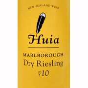 Huia Dry Riesling 2010 Front Label