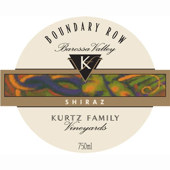 Kurtz Family Vineyards Boundary Row Shiraz 2006 Front Label