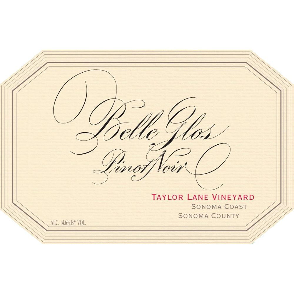 Belle Glos Taylor Lane Vineyard Pinot Noir 2010 Front Label