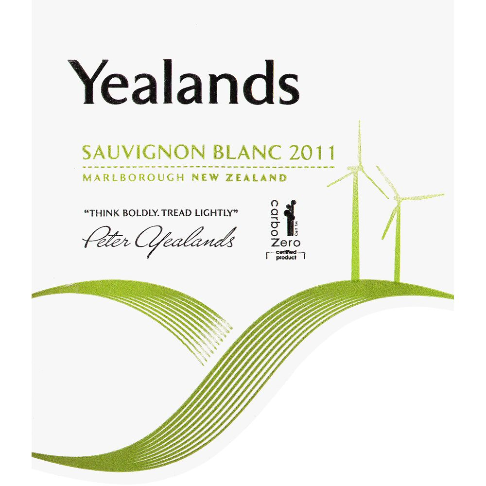 Yealands Sauvignon Blanc 2011 Front Label