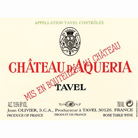 Chateau D'Aqueria Tavel Rose 2011 Front Label
