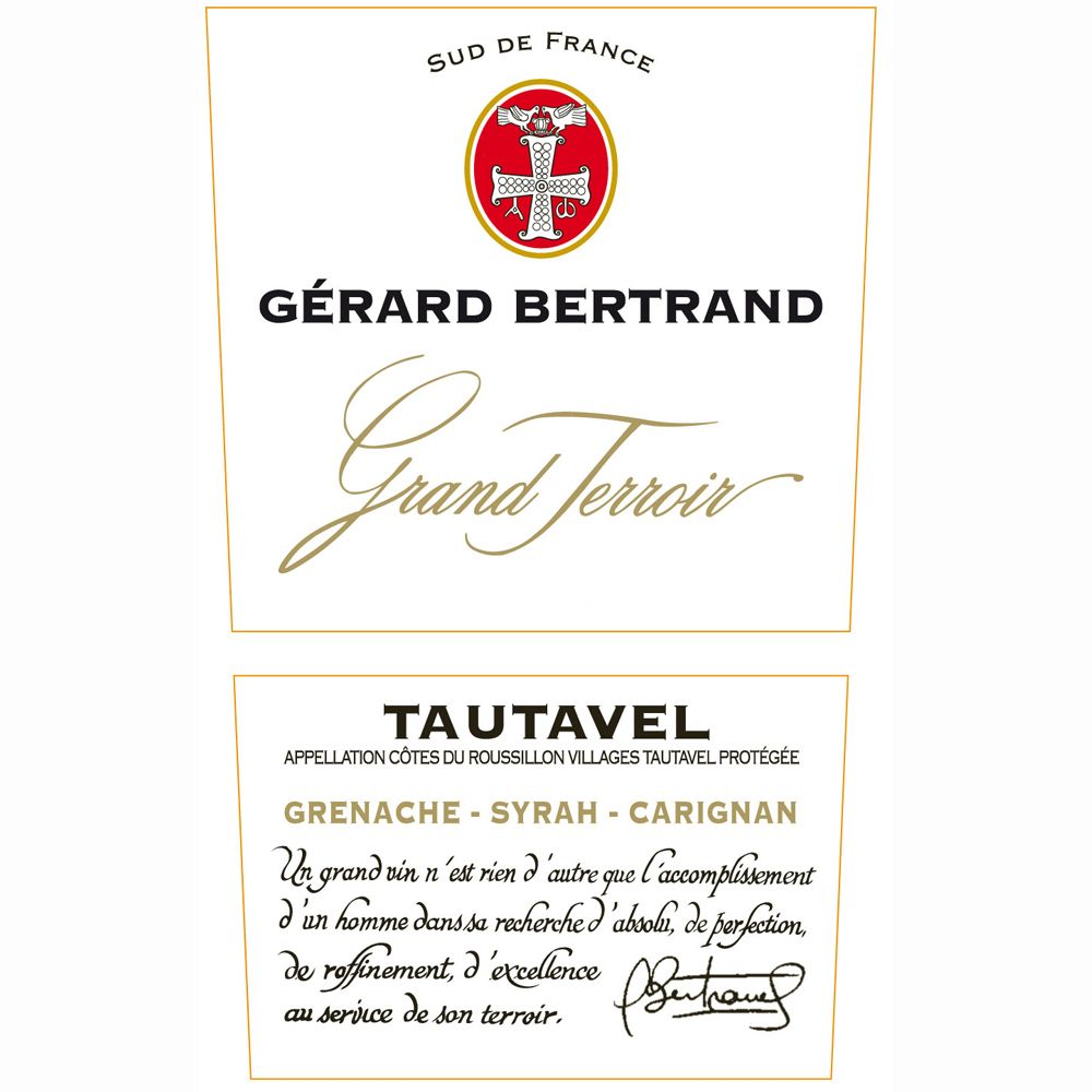 Gerard Bertrand Grand Terroir Tautavel 2006 Front Label