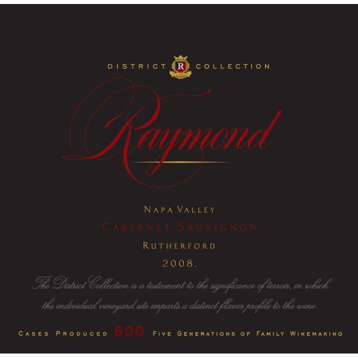 Raymond Rutherford Cabernet Sauvignon 2008 Front Label