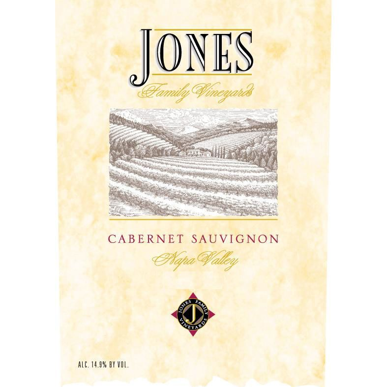 Jones Family Vineyards Cabernet Sauvignon 1999 Front Label