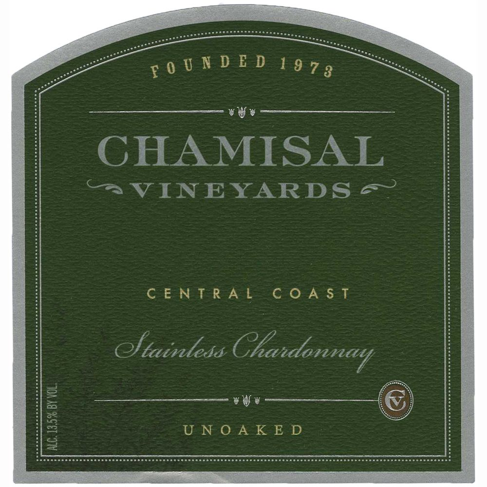 Chamisal Vineyards Stainless Chardonnay 2011 Front Label
