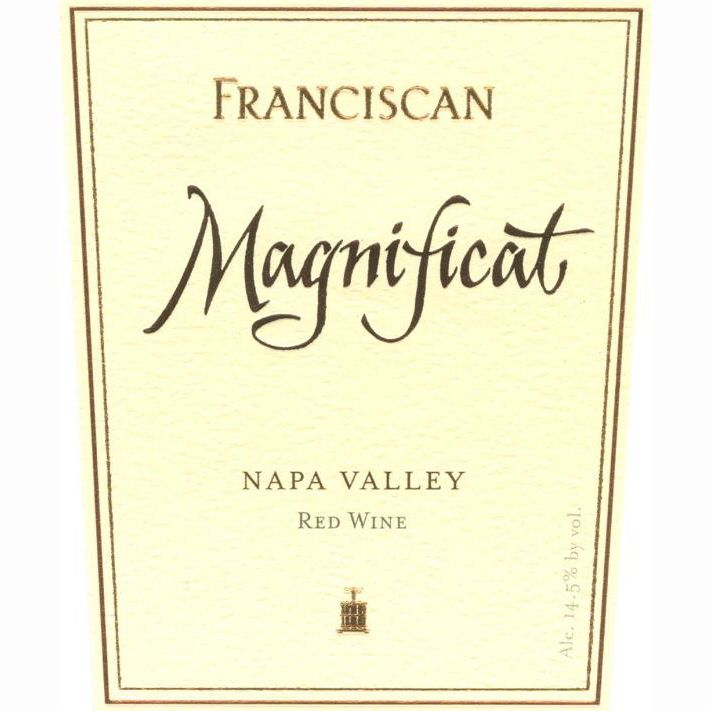 Franciscan Estate Magnificat 1995 Front Label