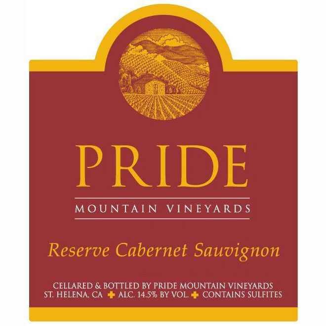 Pride Mountain Vineyards Reserve Cabernet Sauvignon 2002 Front Label