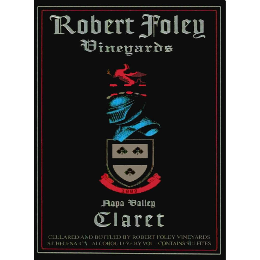 Robert Foley Vineyards Claret (signed) 1999 Front Label