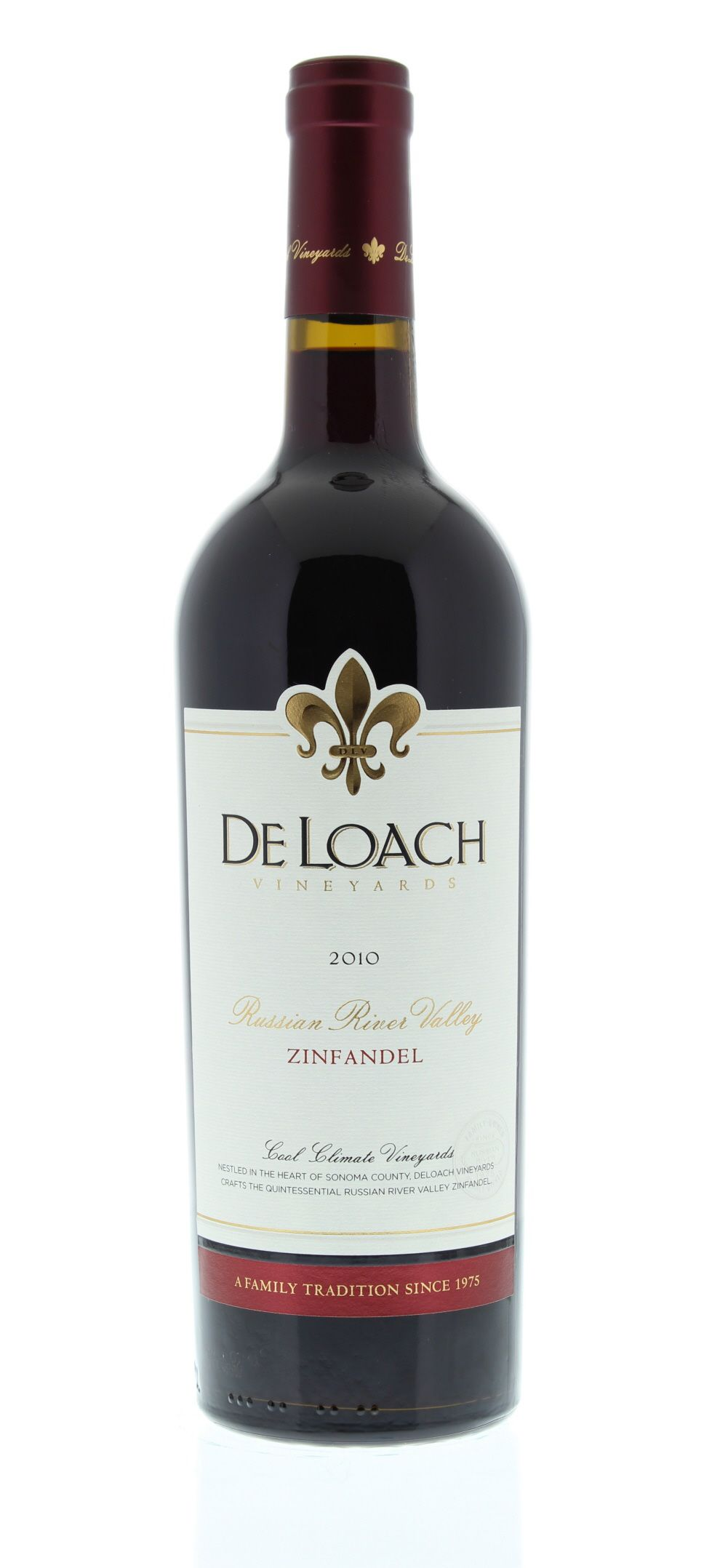 DeLoach Russian River Zinfandel 2010 Front Bottle Shot