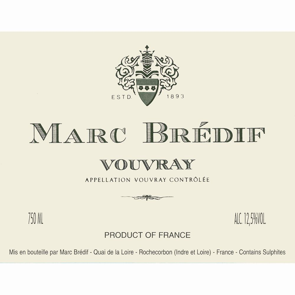 Marc Bredif Vouvray 2009 Front Label