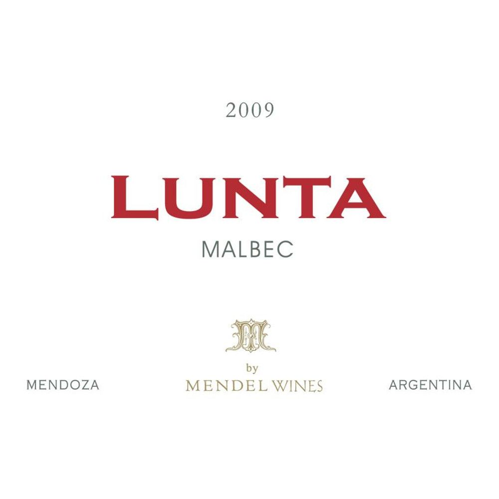 Lunta Malbec 2009 Front Label