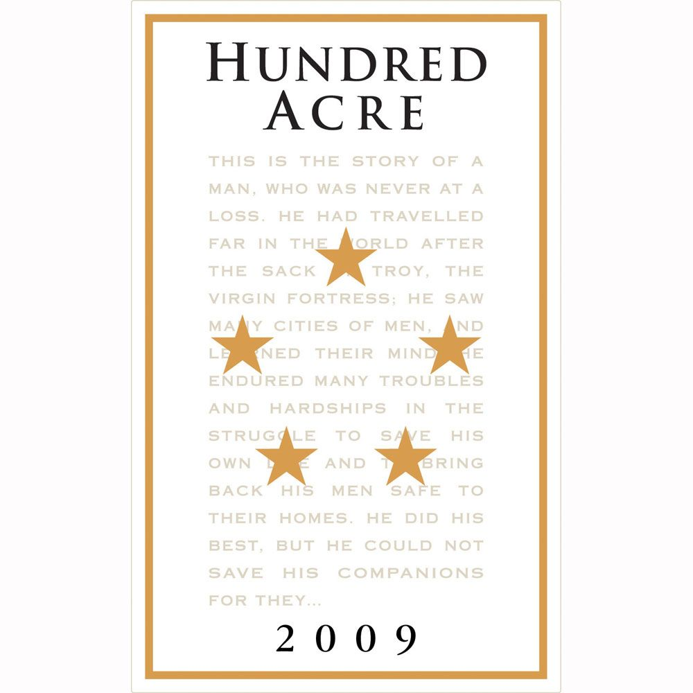 Hundred Acre Kayli Morgan Cabernet Sauvignon 2009 Front Label