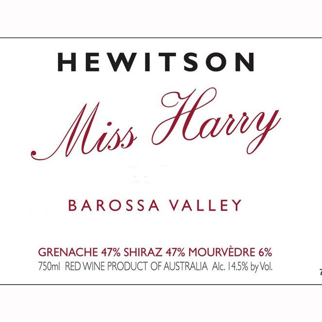 Hewitson Miss Harry G.S.M. 2009 Front Label