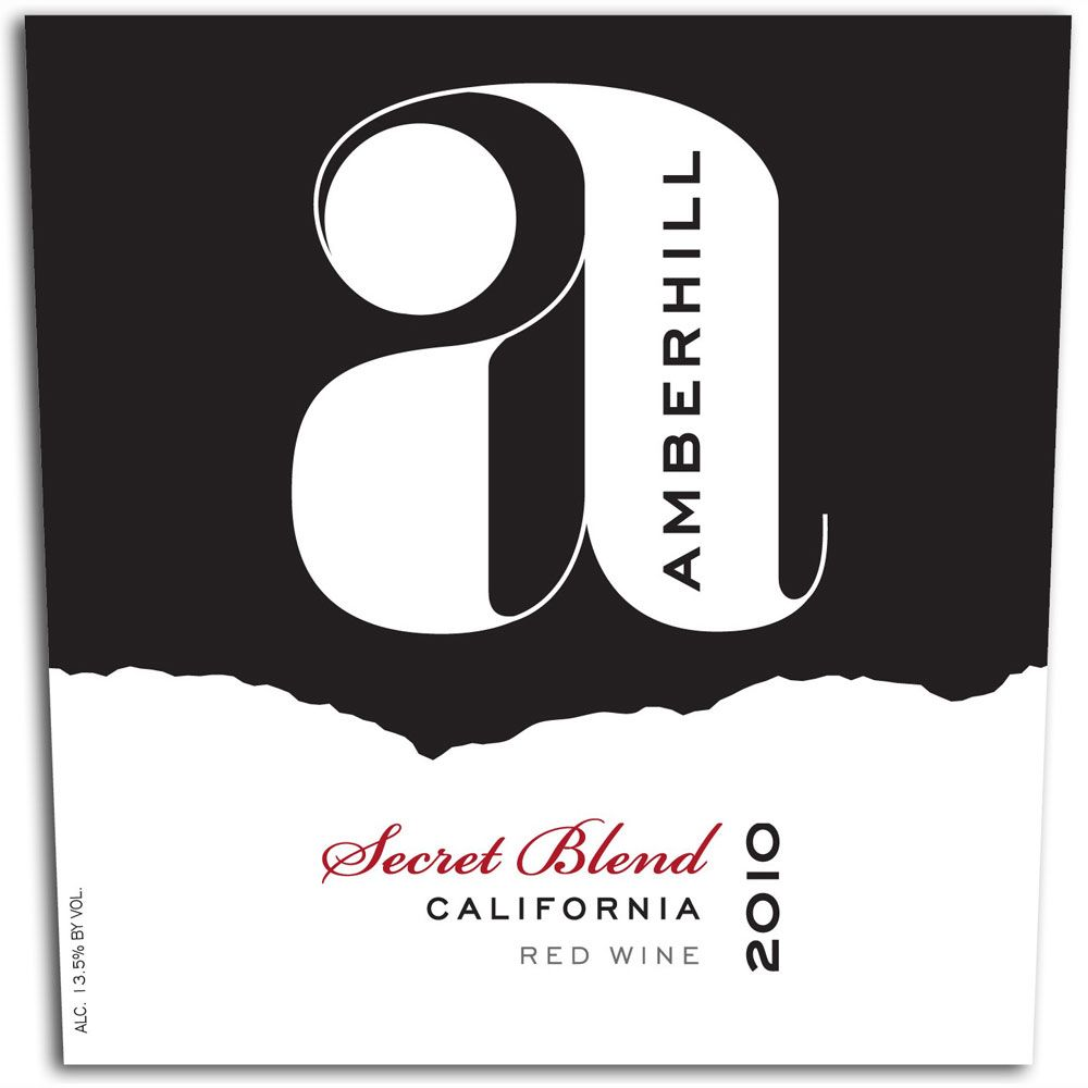 Amberhill Secret Red Blend 2010 Front Label
