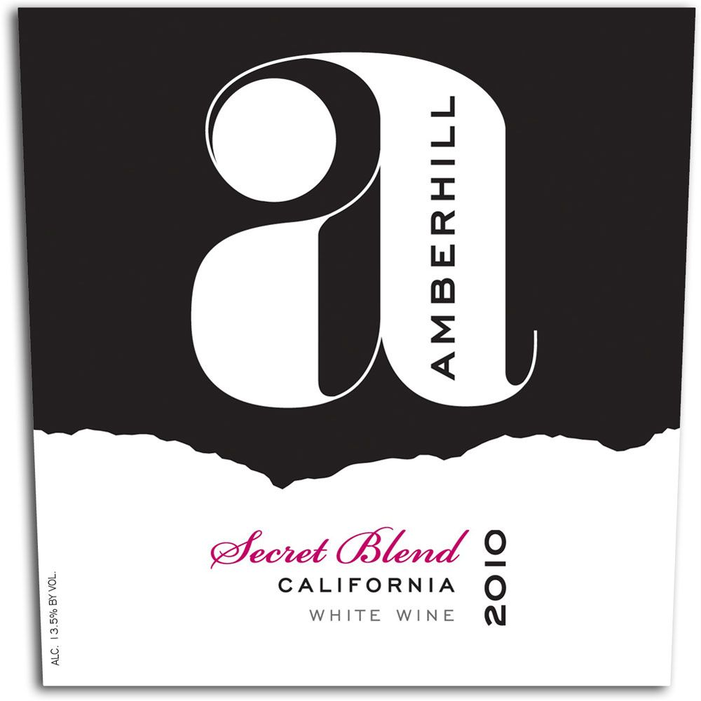 Amberhill Secret White Blend 2010 Front Label