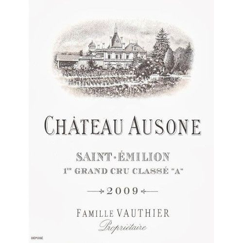 Chateau Ausone  2009 Front Label