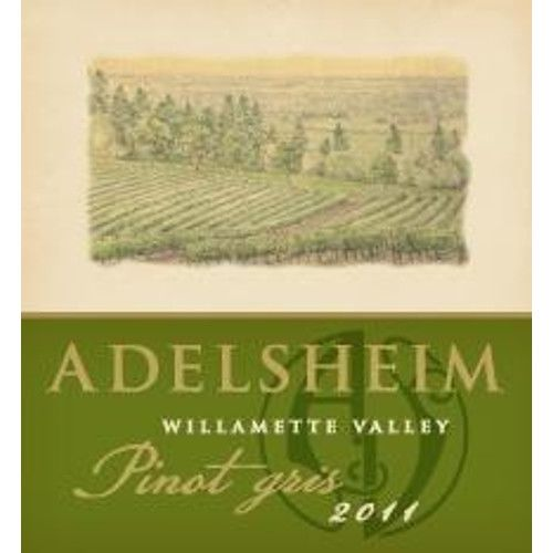 Adelsheim Pinot Gris (375ML half-bottle) 2011 Front Label
