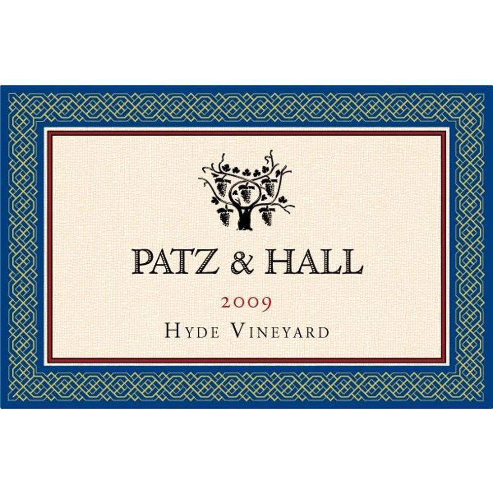 Patz & Hall Hyde Vineyard Chardonnay 2009 Front Label