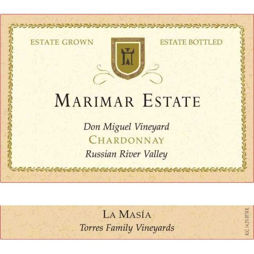 Marimar Estate Don Miguel Vineyard La Masia Chardonnay 2009 Front Label
