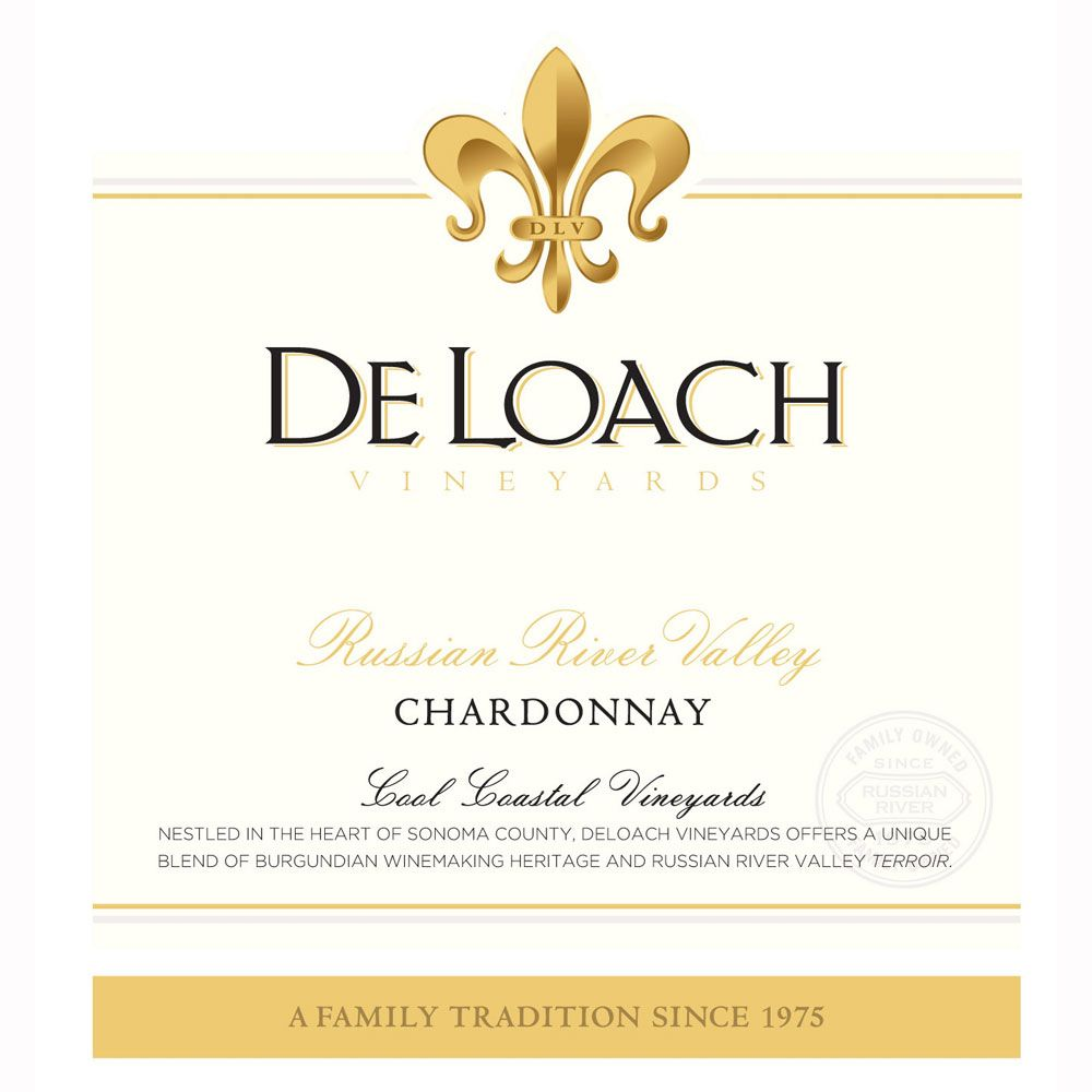 DeLoach Russian River Chardonnay 2010 Front Label