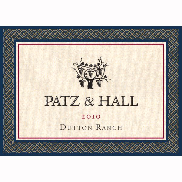 Patz & Hall Dutton Ranch Chardonnay (375ML half-bottle) 2010 Front Label