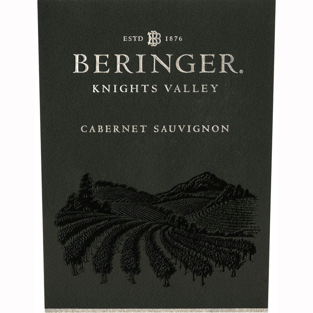 Beringer Knights Valley Cabernet Sauvignon 2010 Front Label