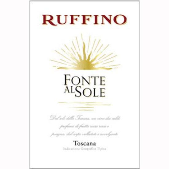 Ruffino Fonte al Sole 2010 Front Label