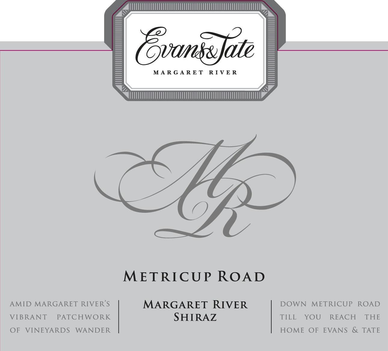 Evans & Tate Metricup Road Shiraz 2014 Front Label