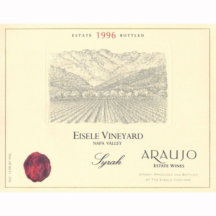 Araujo Eisele Vineyard Syrah 1996 Front Label