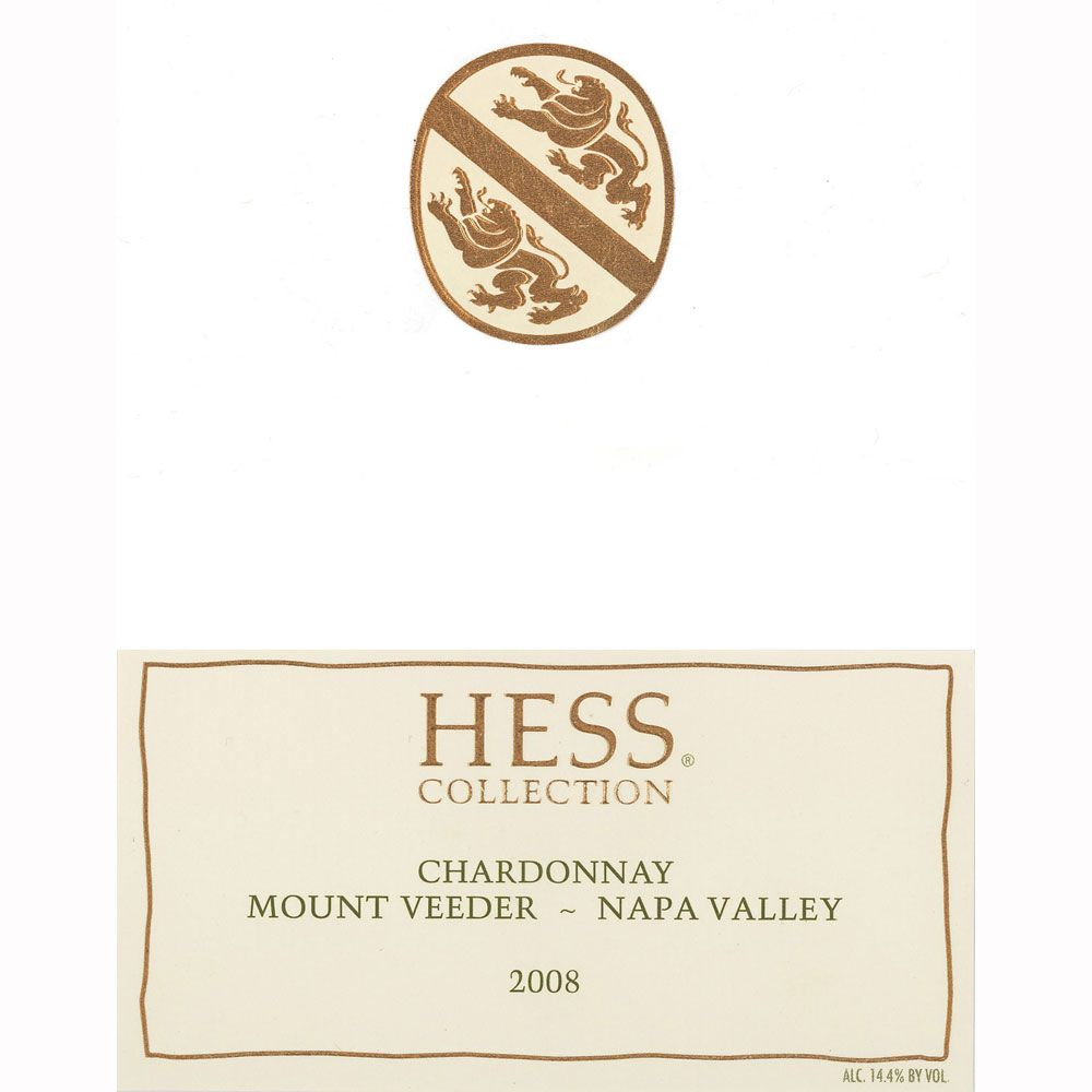 Hess Collection Mt. Veeder Chardonnay 2008 Front Label
