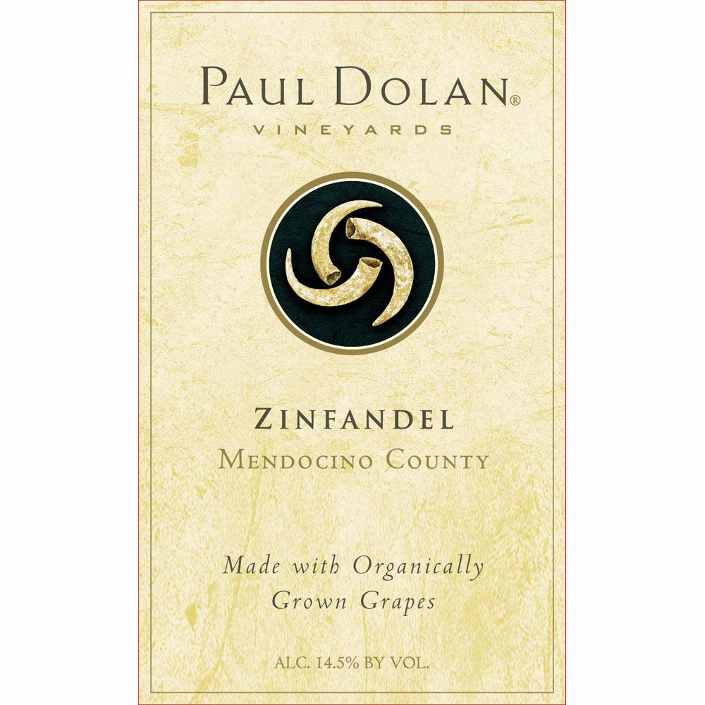 Paul Dolan Vineyards Zinfandel 2010 Front Label