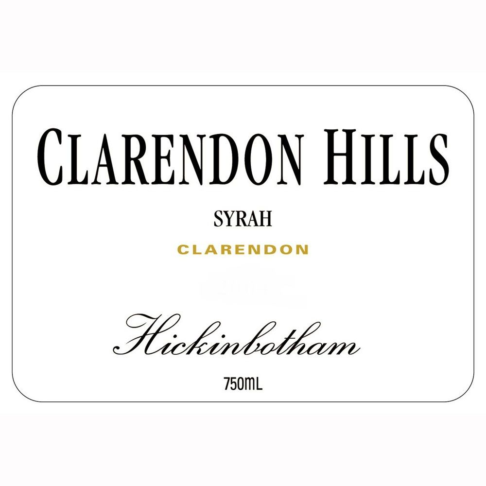 Clarendon Hills Hickinbotham Syrah 2006 Front Label