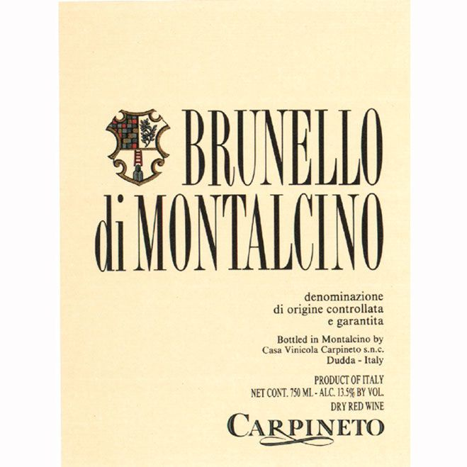 Carpineto Brunello di Montalcino 2006 Front Label