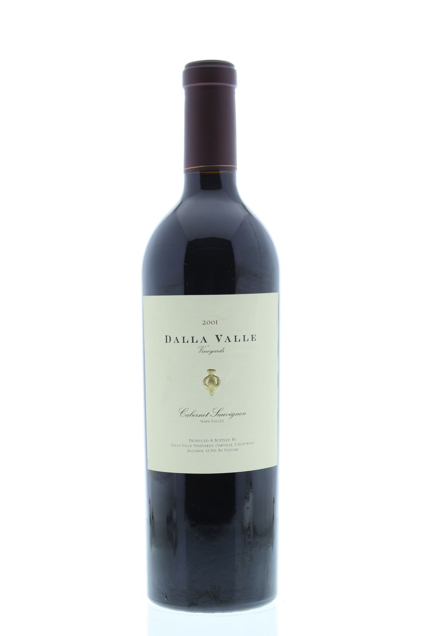 Dalla Valle Cabernet Sauvignon 2001 Front Bottle Shot