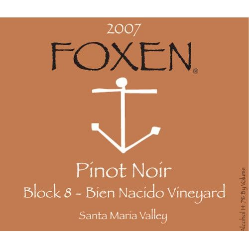 Foxen Block Eight Pinot Noir 2007 Front Label