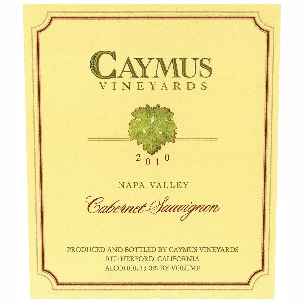 Caymus Napa Valley Cabernet Sauvignon 2010 Front Label