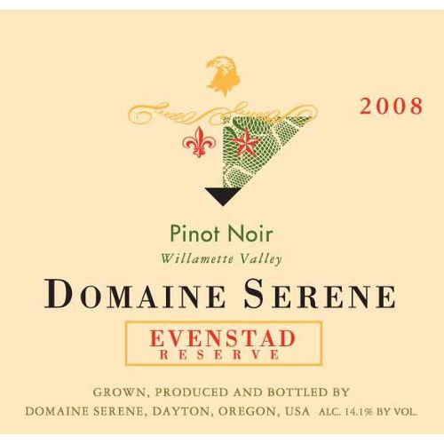 Domaine Serene Evenstad Reserve Pinot Noir 2008 Front Label