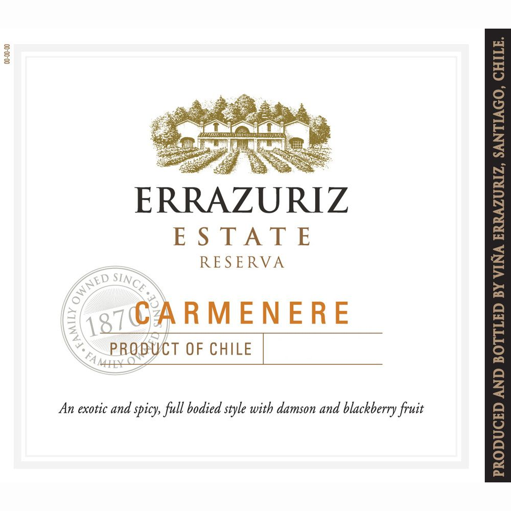 Errazuriz Estate Carmenere 2011 Front Label