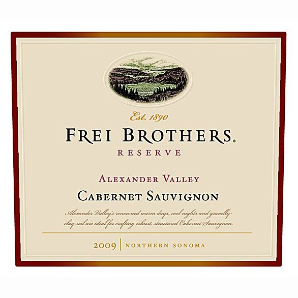 Frei Brothers Reserve Cabernet Sauvignon 2009 Front Label