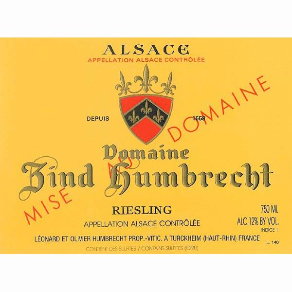 Zind-Humbrecht Riesling 2011 Front Label