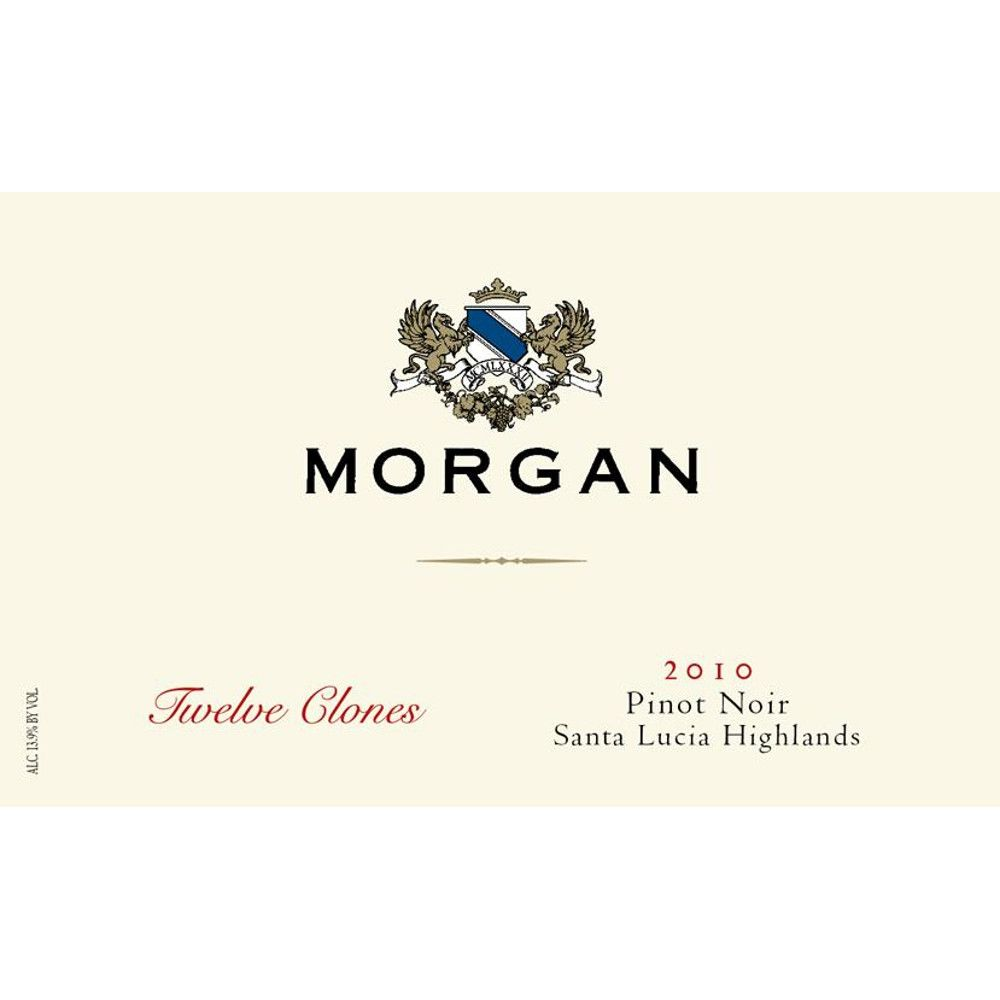Morgan Twelve Clones Pinot Noir 2010 Front Label