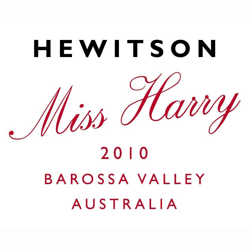 Hewitson Miss Harry G.S.M. 2010 Front Label