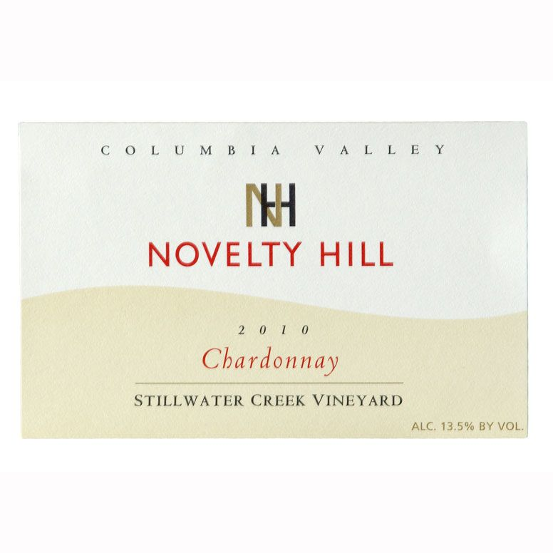 Novelty Hill Stillwater Creek Chardonnay 2010 Front Label