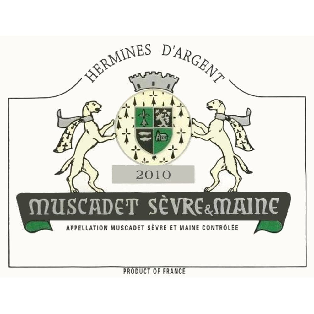 Hermines d'Argent Muscadet 2010 Front Label