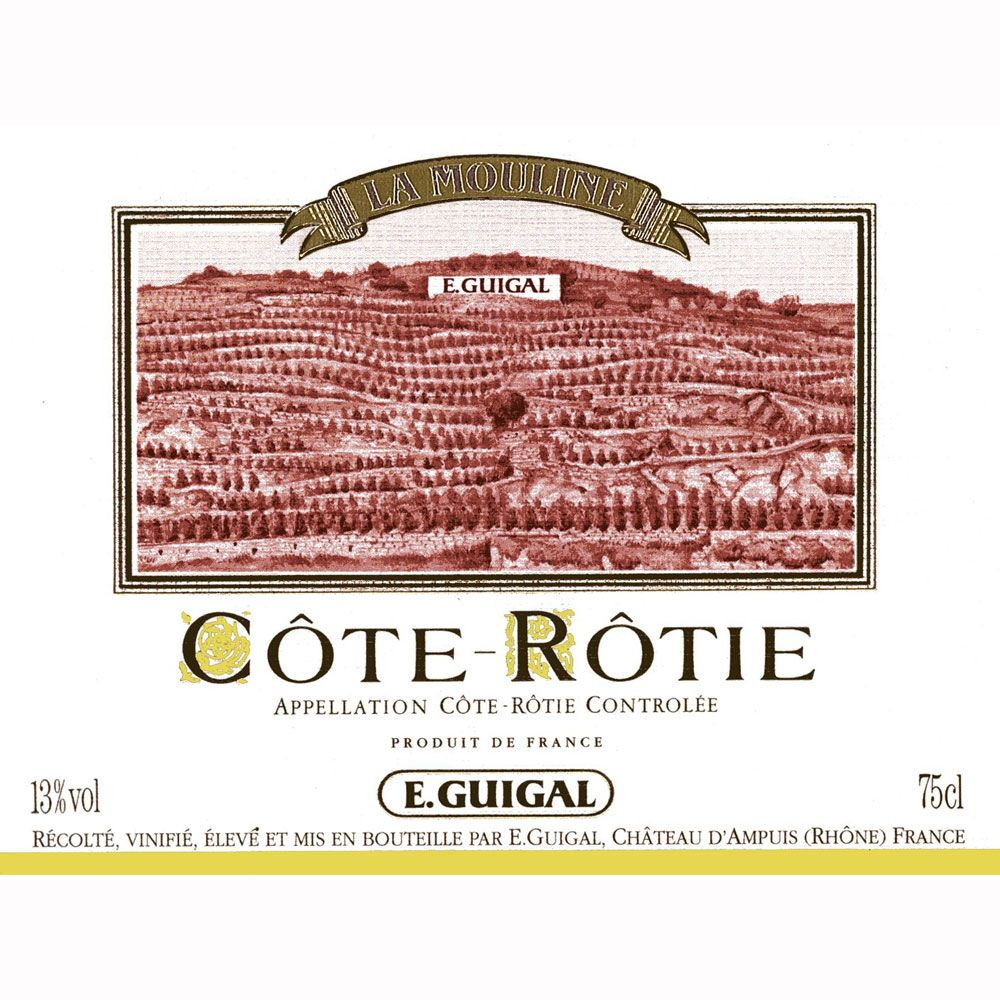 Guigal La Mouline Cote Rotie 2008 Front Label