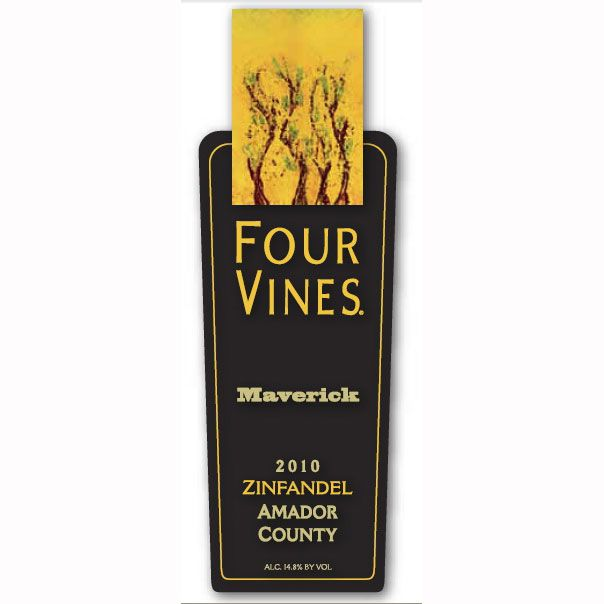 Four Vines The Maverick Zinfandel 2010 Front Label