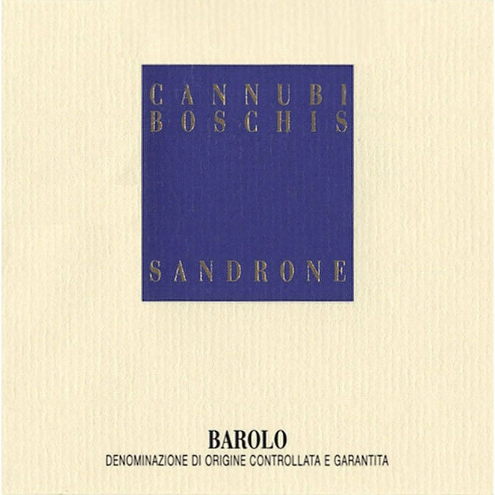 Sandrone Barolo Cannubi Boschis 2008 Front Label